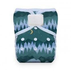 Thirsties Natural One Size Pocket Diaper na SZ - Moutain Twilight