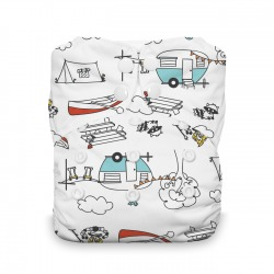 Thirsties Natural One size AIO - Happy Camper
