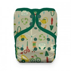 Thirsties One Size Pocket Diaper - Green Scene